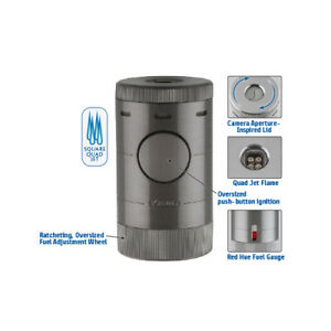 XiKAR Volta 569SL Quad 4 Jet Torch Table Cigar Lighter Lifetime Warranty