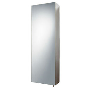 stainless steel bathroom cabinet mirror tall single door wall rh ebay co uk tall mirrored bathroom storage cabinets tall mirrored bathroom wall cabinet