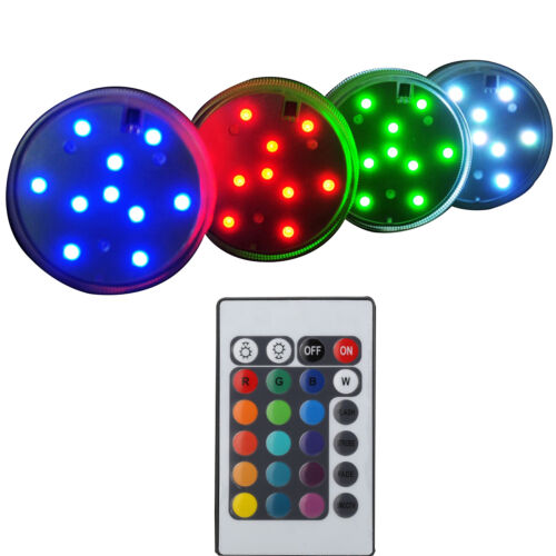 10 LED Submersible Waterproof Light Party Vase Wedding Decor With Remote Control