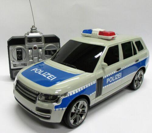 Grande auto della polizia da postazione remota con luce blu, sirene, fari-luce NUOVO