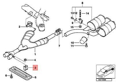 Manifold & Parts BMW Exhaust Hanger Front E38 E39 E46 E85 E86 E89 ...
