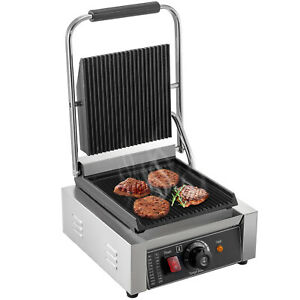 Commercial-Electric-Contact-Press-Grill-Griddle-6-Compact-110V-Warmer-Toaster