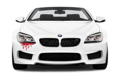 blood drip sticker racing bloody JDM Funny drift car zombie window running decal