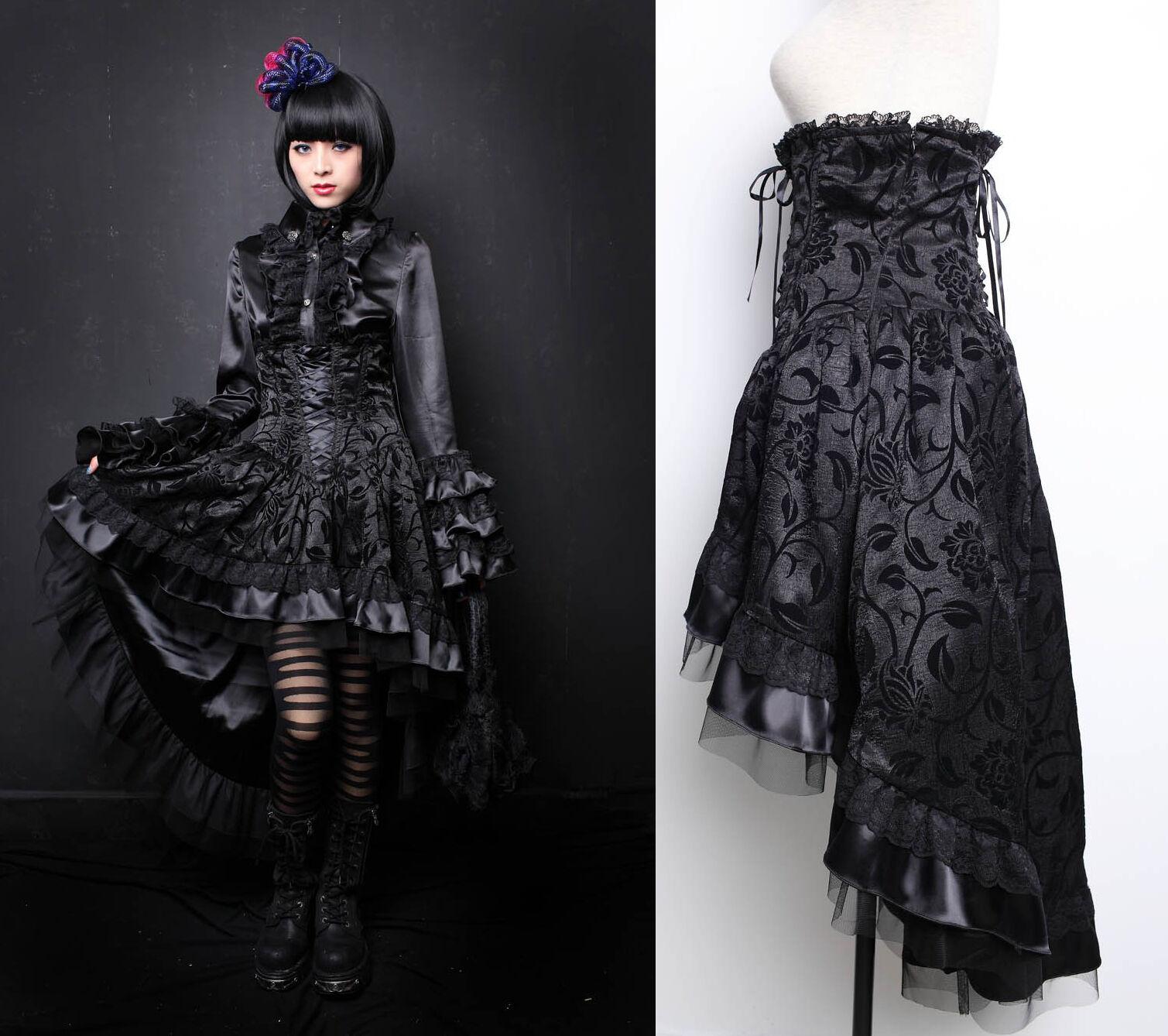 Pentagramme High Waist Gothic Lolita Skirt Gothic Victorian Clothing J020048