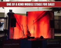 One-of-a-kind mobile stage w/ fully integrated wireless lighting & sound system!