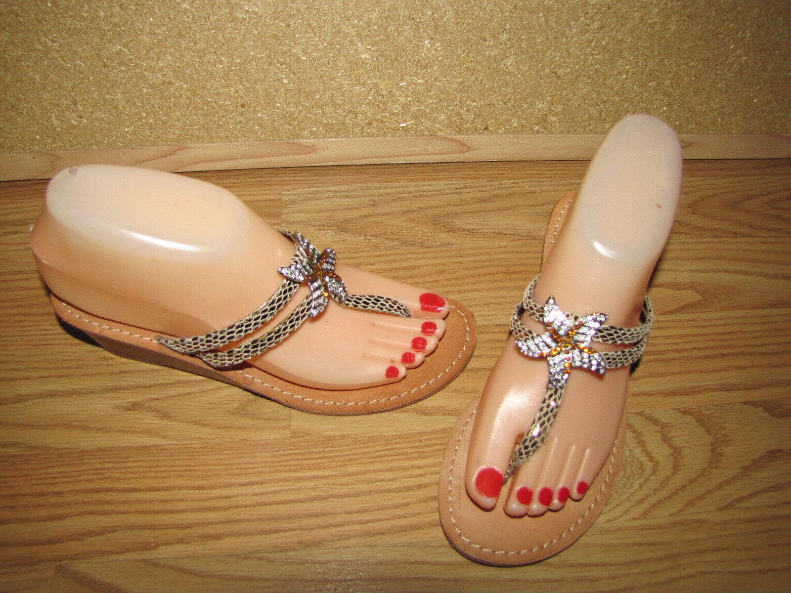 Yellow Sandals Box Starfish Rhinestone Thong Sandals Yellow - 6 European 36.5 EUC a3fbf2
