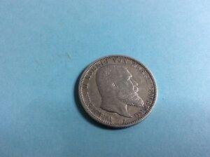 Silber Münze Zwei Mark Wilhelm Ii König Von Württemberg 1899 F