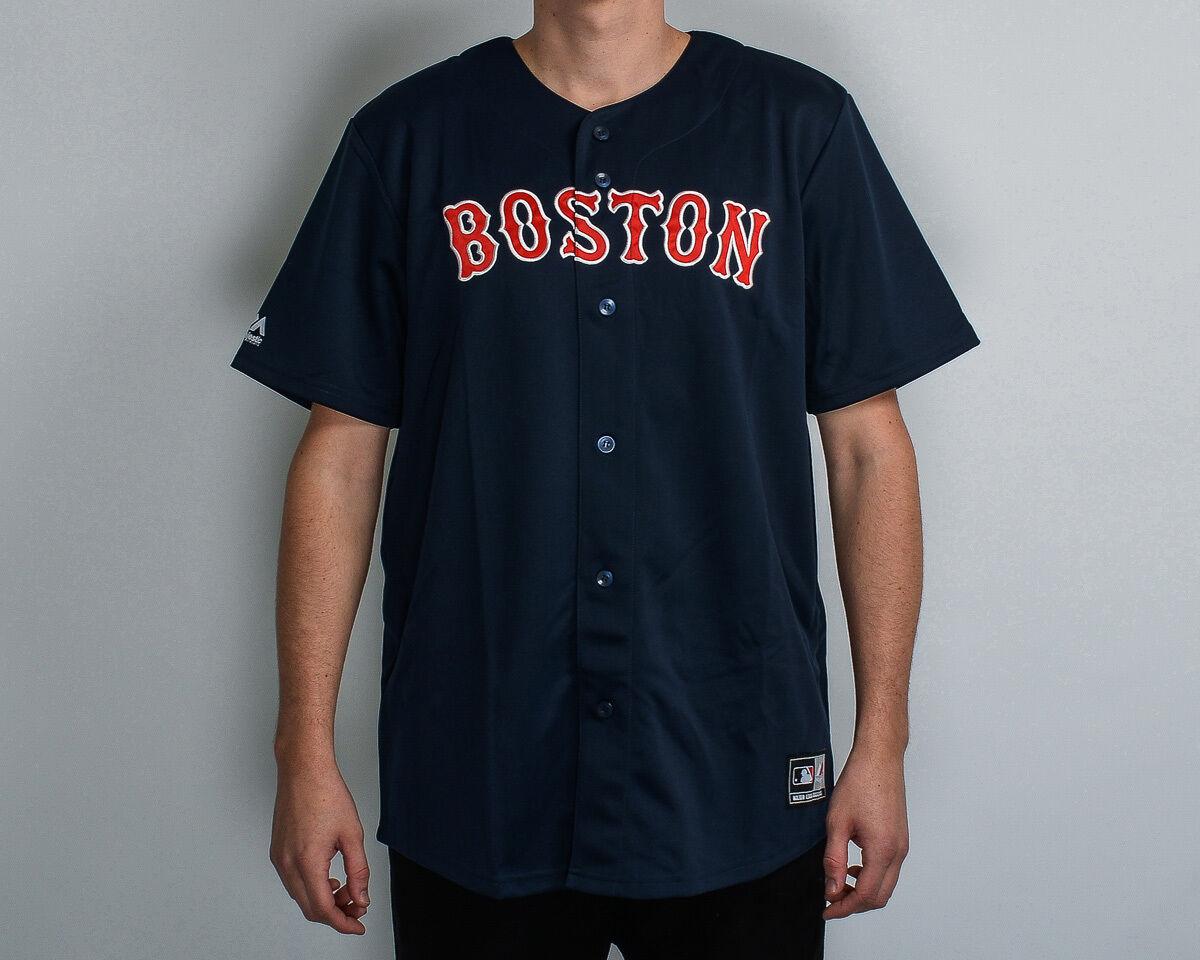 Hoheitsvoll MLB Boston ROT Sox Replik Trikot Neu MBX2593NL Marineblau Rot Weiß