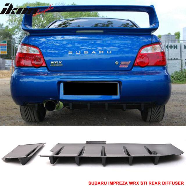 Fits 04 07 Subaru Impreza Wrx Sti Sedan Jdm Rear Diffuser Splitter