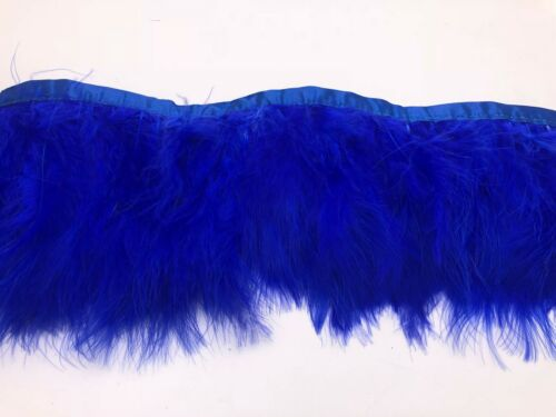 FLUFFY TURKEY FEATHER FRINGE CRAFT TRIM SEWING COSTUME MILLINERY MATERIAL DIY