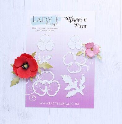 haciendo Lady E Diseño Flor 9 de Corte Die Flor Set flores de espuma