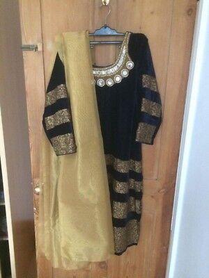 Bello 2 X Nuova Asiatica Indiana Pakistana Vestito Salwar Kameez Suit Cucite Tg Uk 16 - 18-mostra Il Titolo Originale Prezzo Di Vendita