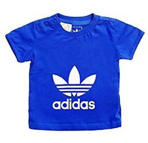 fad0865d4b143 Details about boys adidas t-shirt originals large logo trefoil girls baby  infants tee top