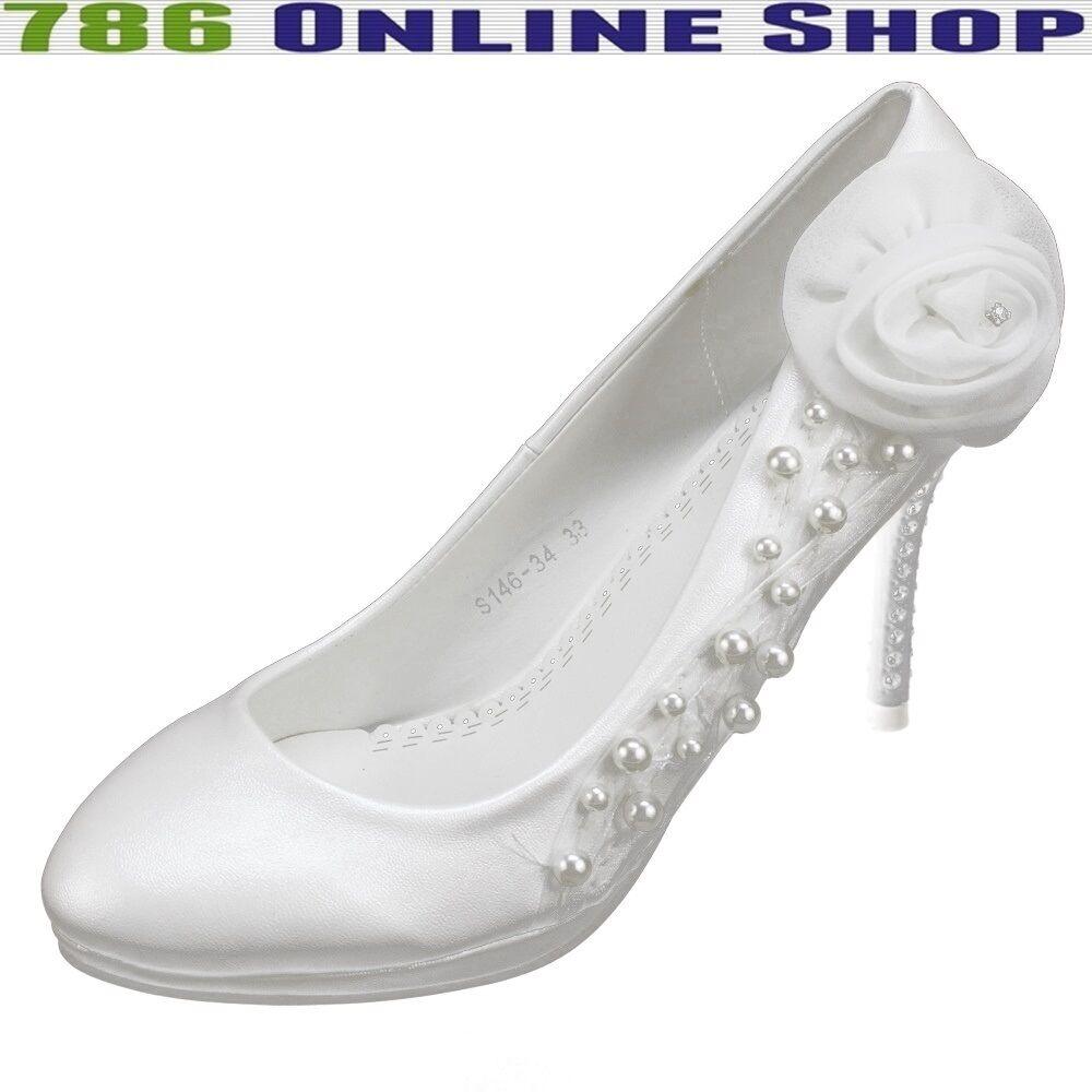 Bridal Shoes Women's Court (144B) Unique Great Design New