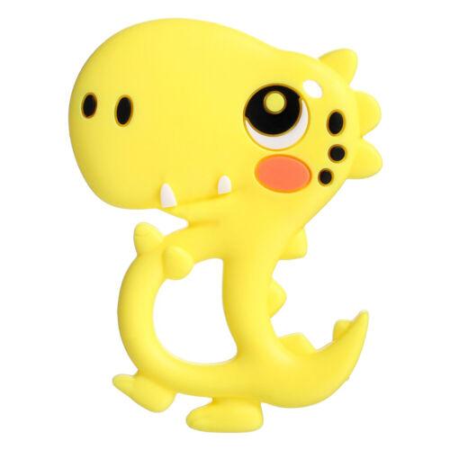 Baby Teether Cartoon Dinosaur Animal Silicone Teether Baby Bite Rubber Molar Toy