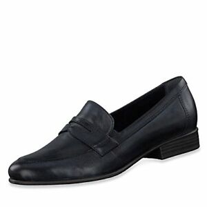in Leather Insole pelle in 24215 sottopiede Black memory Loafer fodera Memory 24215 With con Tamaris Tamaris foam Foam nera ST5Oqww