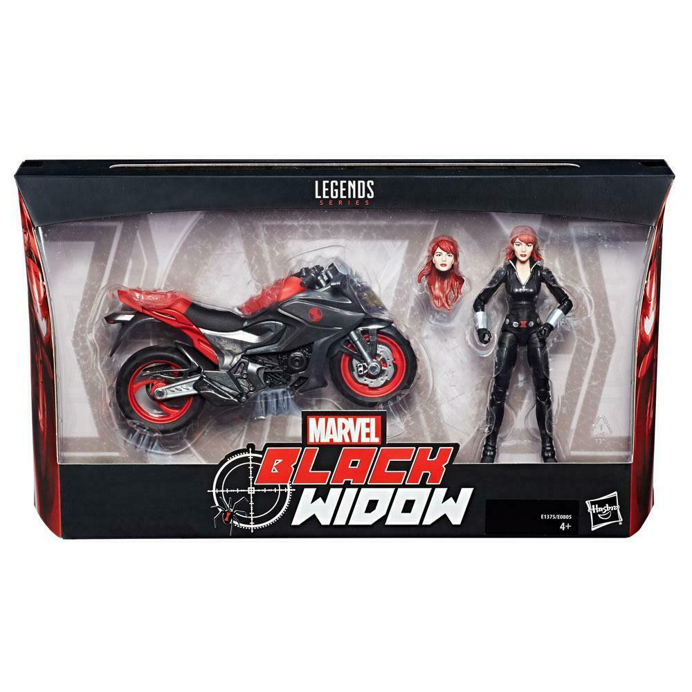 Original   schwarz WIDOW ULTIMATE SERIES MARVEL LEGENDS Figure    BIKE MOTORCYCLE