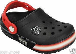 fb468c9c5e CROCS CROSSLIGHTS STAR WARS VADER CLOG BLACK RED LIGHT UP KIDS SHOES ...