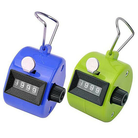 4 Digit Number Dual Clicker Golf Hand Tally Counter Handy Convenient Pack of 2