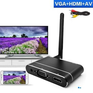 Details about Display Dongle Receiver 1080P Car WiFi Mirror Box HDMI VGA AV  for iPhone Android