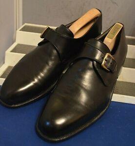 Russell-amp-Bromley-inteligente-Clasico-Retro-Negro-Correa-De-Monje-Zapatos-de-Trabajo-UK-9-5-EU-43