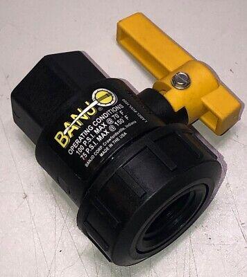 """BANJO V125FP 1-1//4/"""" FNPT Polypropylene Ball Valve Inline"""