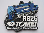 TOMEI JAPAN SILICONE RUBBER KEYCHAN RB26 ENGINE - 765007