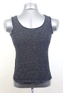 Ann-Taylor-Loft-Medium-Tank-Top-Womens-Sleeveless-Black-Women-Shirt-Blouse