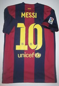 lowest price 11a1c d5323 Details about 2014-2015 Nike FC Barcelona Lionel Messi Home Jersey Shirt  Maglia Kit Argentina