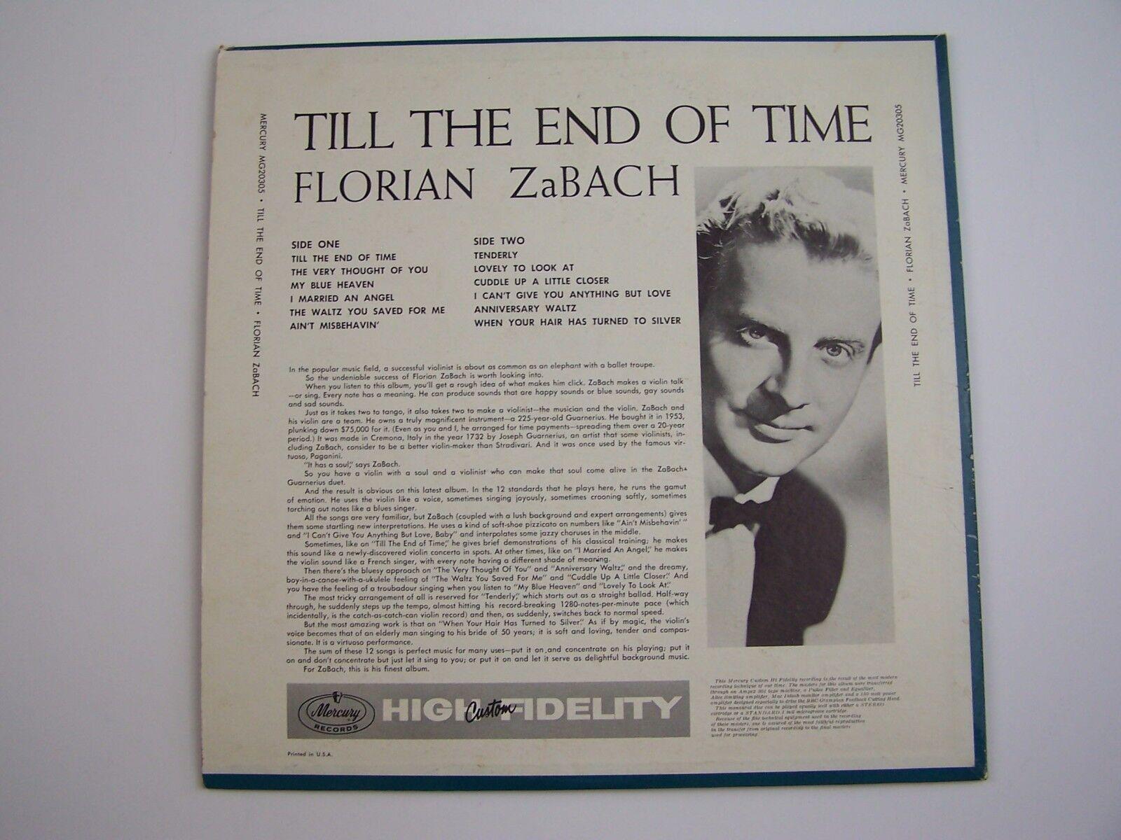 Florian Zabach - 'Till The End Of Time Vinyl LP Record