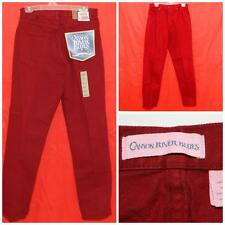 Vintage NWT Canyon River Blues Wine Red Jeans  JUNIORS Size 7 Relaxed Loose Fit