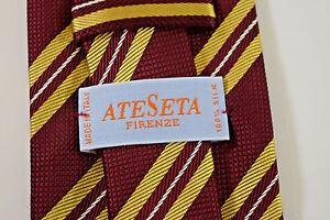 a8f324d9c01de4 Image is loading ATESETA-FIRENZE-TIE-SILK-NECK-GOLD-RED-HANDMADE-