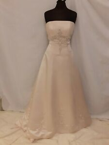 Champagne-Satin-Wedding-Dress-From-Eternity-Brides-Size-12