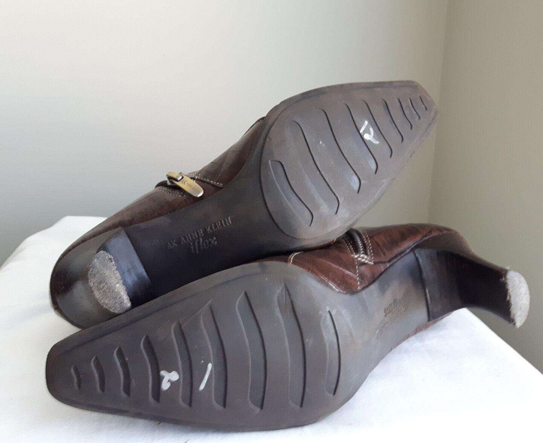ANNE KLEIN AK iflex Braun croc Leder short Größe Stiefel style MAGILBERT zip Größe short 6 17eac0