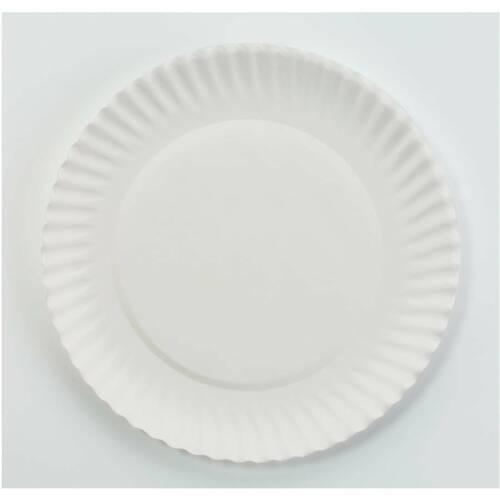 "ANB  Round White Paper Plates 9/"" 100 ct"
