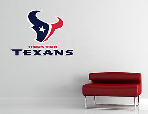 Houston Texans Nfl Wall Decal Vinyl Sticker Art Decor Football Extra