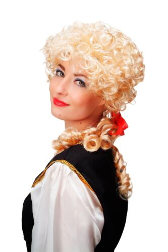 Wig Carnival Baroque Blonde Curls Pigtails Marie Antoinette Cosplay Gothic 3048