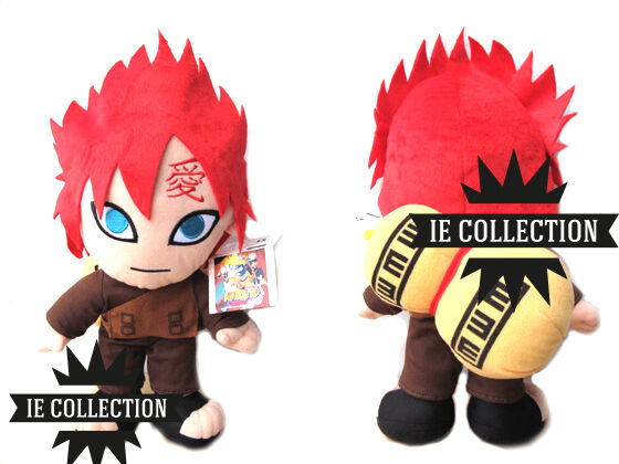 Naruto Gaara Plüsch 37 cm Schneemann Plush Shippuden doll Figure Kazekage  | Verpackungsvielfalt