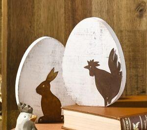 Deko-Eier, Osterei, Ostern, Frühling, 2 er Set, Holz ...
