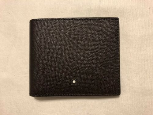 NWT MONT BLANC Men/'s Classic Brown Sartorial Bifold Wallet Made in ITALY