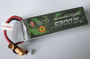 BT2851-Thunder-Tiger-LiPo-30C-039-039-Gens-ace-039-039-3S-5300mAh-11-1V-XT60-Stecker-TRA