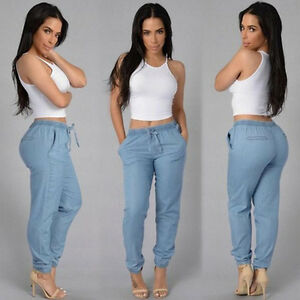 Fashion-Womens-Stretches-Waist-Jogger-Leggings-Loose-Casual-Harem-Pants-Trousers