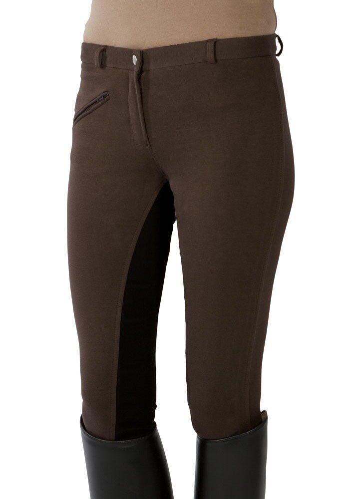 Damen Reithose Vollbesatz Pfiff braun-schwarz braun-schwarz Pfiff NEU 659971