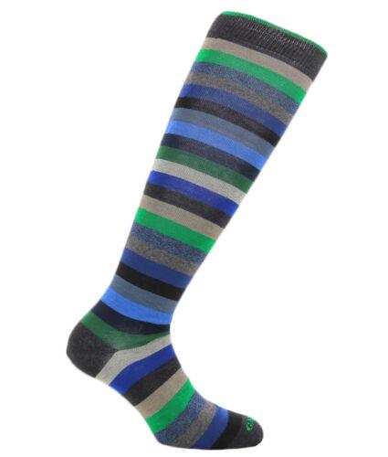 grau und Blau für He Blau schwarz Gallo Socken anthrazit mit grünen Streifen