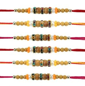 Collectibles Fast Deliver 6 X Rakhi Thread Bracelet Multicolour Bead Raksha Bandhan Rakhi Wrist Band Dora