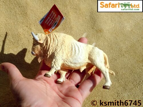 Safari Blanc Bison solide Jouet en plastique Wild Zoo American Buffalo ANIMAL NOUVEAU *