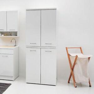 Dettagli su Colonna porta lavatrice e asciugatrice fronte lucido bianco con  maniglie cromate