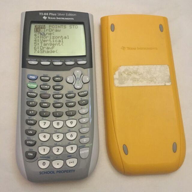 Texas Instruments TI 84 Plus Silver Edition Graphing Calculator School *read*