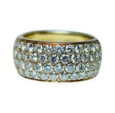 Kurt Wayne Vintage 2.4ct Diamond Ring 18K Gold Designer Signed Estate