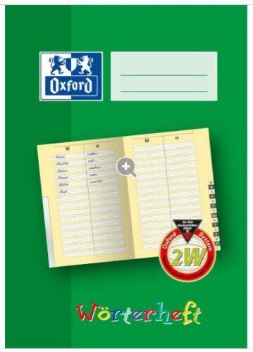 1 Stück DIN A5-28 Blatt OXFORD Wörterheft Lineatur: 2W